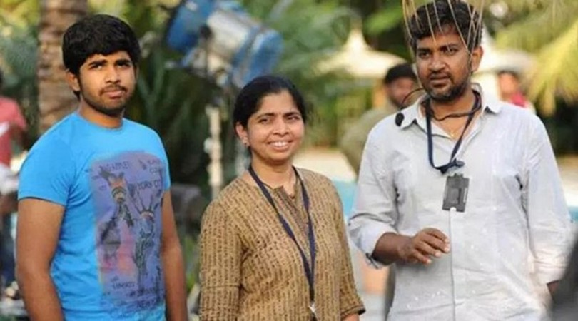 SS Karthikeya with his mother and father SS Rajamouli