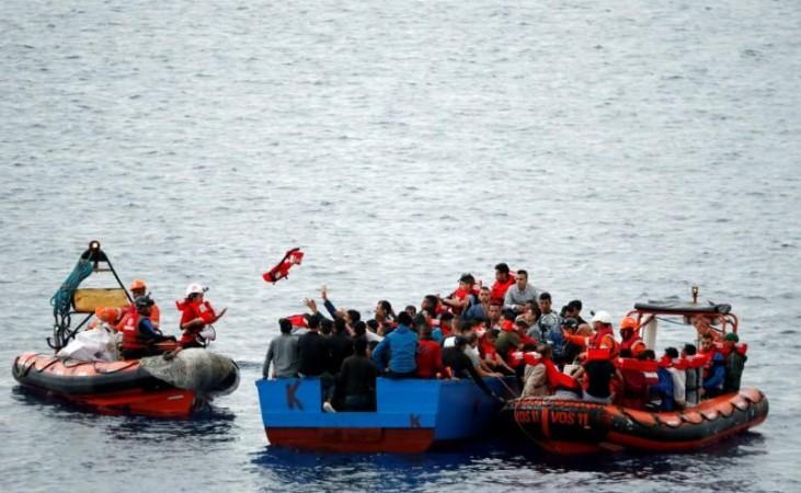 Refugee boats capsized