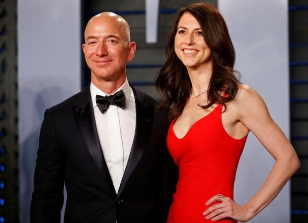 Amazon CEO Jeff and wife MacKenzie Bezos