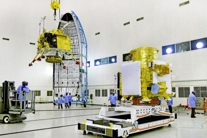 Chandrayaan-2 lunar orbiter hoisted to GSLV Mk-III nose cone