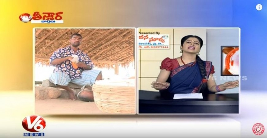 Bithiri Sathi and Savitri on TV show Teenmaar