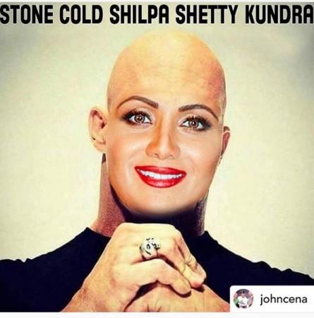 Shilpa Shetty's face morphed on Stone Cold Steve Austin