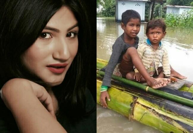 Mahika Sharma helps Assam flood victims