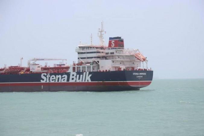 British oil tanker seizure