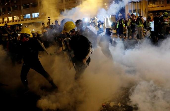 Hong Kong protests-violent