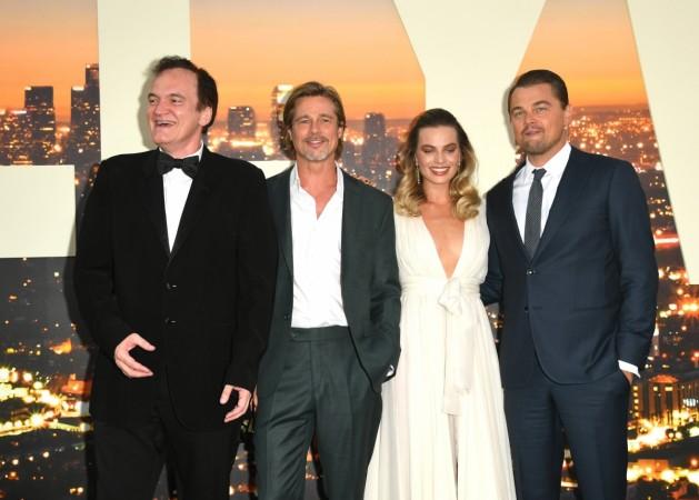 Brad Pitt, Quentin Tarantino, Margot Robbie and Leonardo DiCaprio