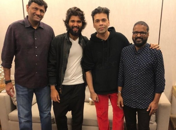 Karan Johar with Dear Comrade team