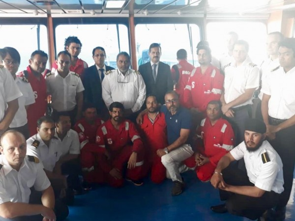 Indian Stena Impero crew