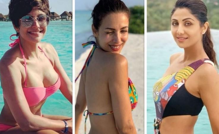 Mandira Bedi, Malaika Arora and Shilpa Shetty