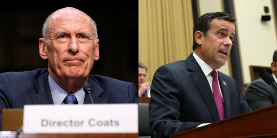 Intelligence chief Dan Coats replaced