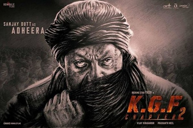 Sanjay Dutt's first look as Adheera from Yash's KGF 2
