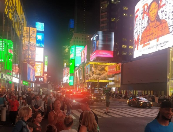 Shooting panic in Times Square