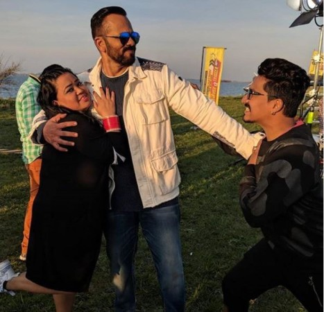 Bharti Singh and Harsh Limbachiyaa in Khatron Ke Khiladi 9