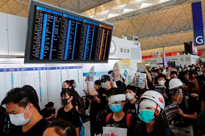 Hong Kong Protests in airport
