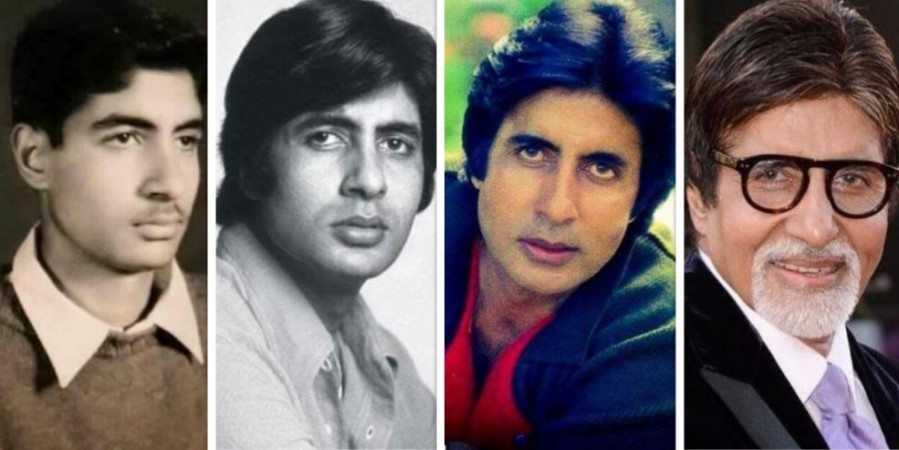 Amitabh Bachchan then and now