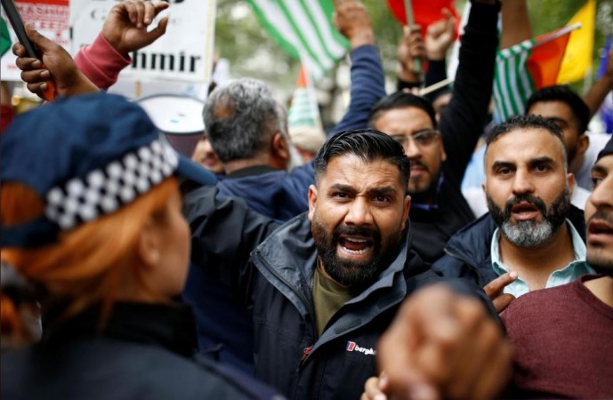 anti-India protests in London on Independence Day
