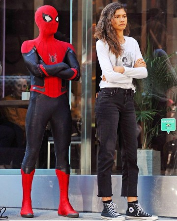 Tom Holland and Zendaya in Spider-Man: Far From Home