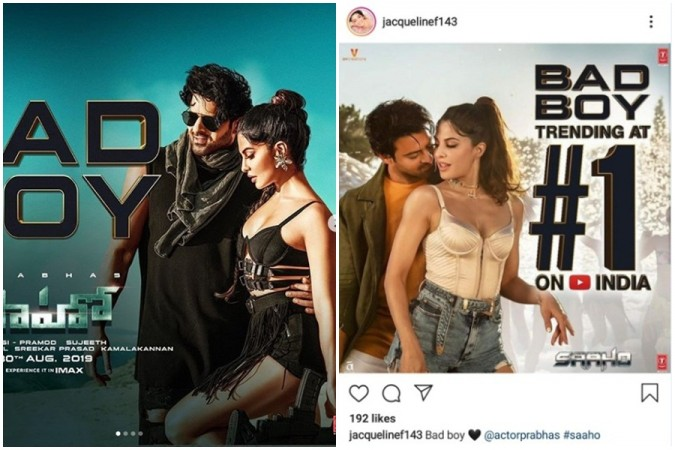 Prabhas and Jacqueline Fernandez in item song Bad Boy from Saaho