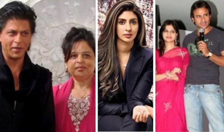 Shah Rukh Khan, Shehnaz, Shweta Bachchan, Saba Ali Khan, Saif Ali Khan