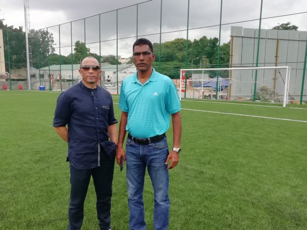 Terry Phelan and Alfred Fernandes
