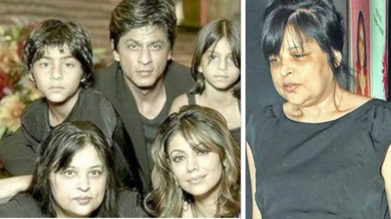 Shah Rukh Khan with wife Gauri, sister Shehnaz and kids Aryan and Suhana
