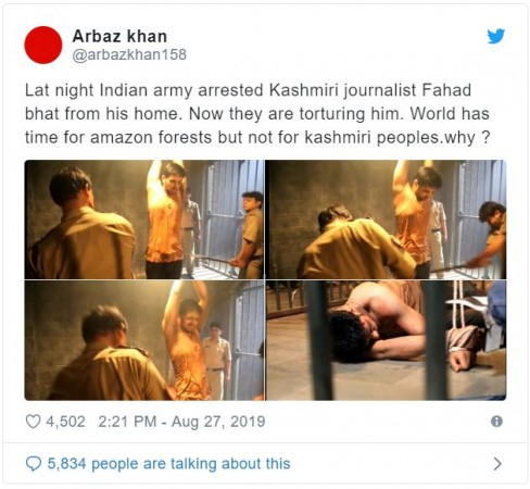 Twitter user wrongly uses TV serial still as Kashmiri journalist beaten up by Indian Army
