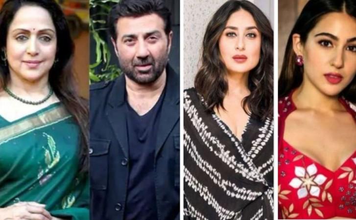 Hema Malini, Sunny Deol, Kareena Kapoor, Sara Ali Khan
