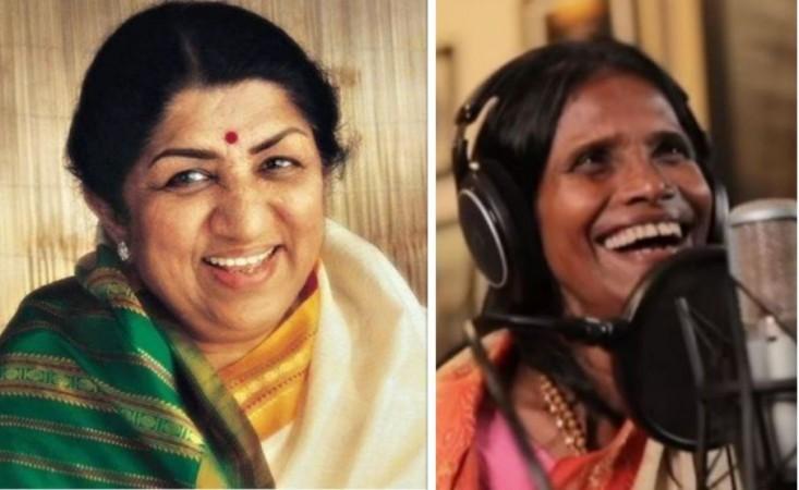 Lata Mangeshkar and Ranu Mondal