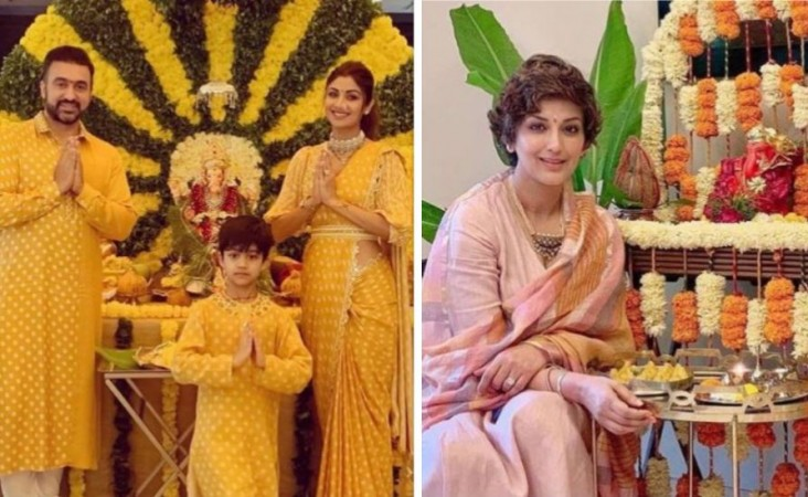 Shilpa Shetty with family, Sonali Bendre