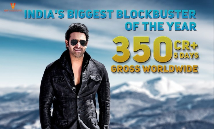 Saaho Rs 350 crore gross poster