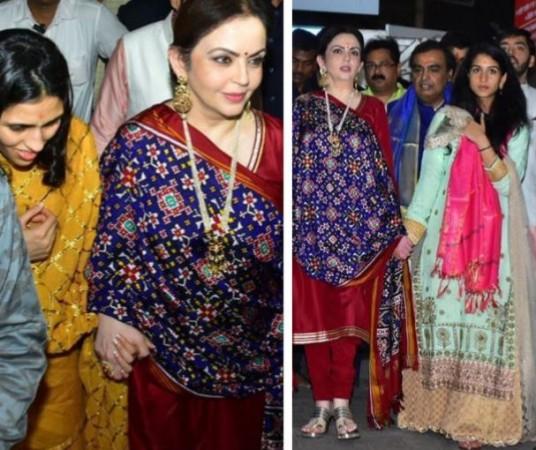 Nita Ambani with Shloka Mehta, Radhika Merchant
