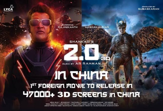 Rajinikanth and Akshay Kumar in 2.0