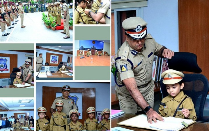 Bengaluru City Police organised an event in the Silicon Valley, where five terminally ill kids were made police Commissioners for a day on Monday (September 9).