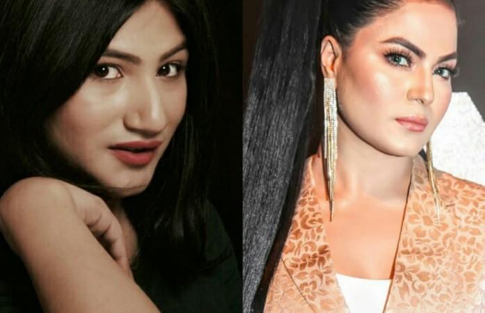Mahika Sharma and Veena Malik