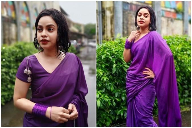 Sumona Chakravarti in Mumbai rains