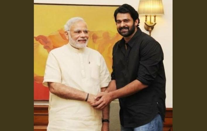 Prabhas with Narendra Modi