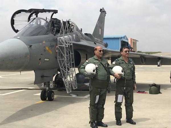 Rajnath Singh flies IAF Light Combat Aircraft Tejas
