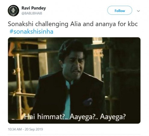 Sonakshi Sinha gets trolled for her answer in KBC 11