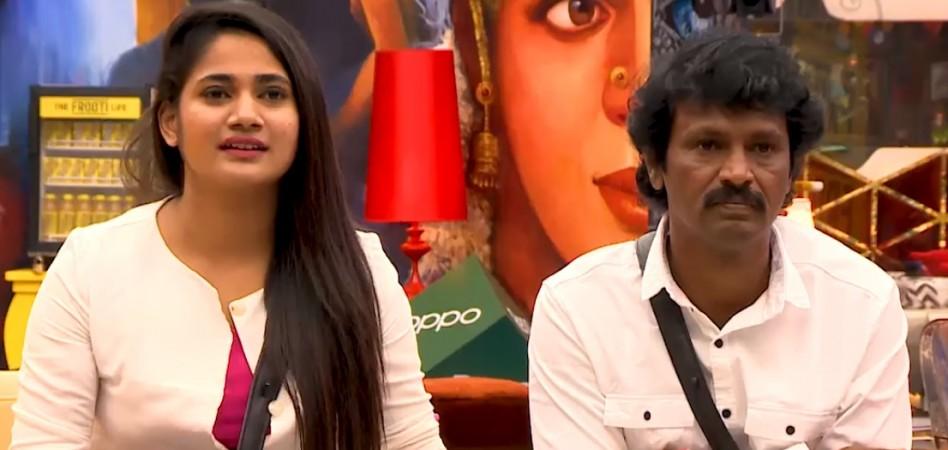 Losliya and Cheran in Bigg Boss Tamil 3