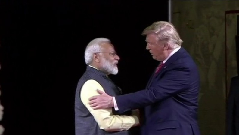 Prime Minister Narendra Modi and US President Donald Trump at Howdy Modi event at Houston, Texas.