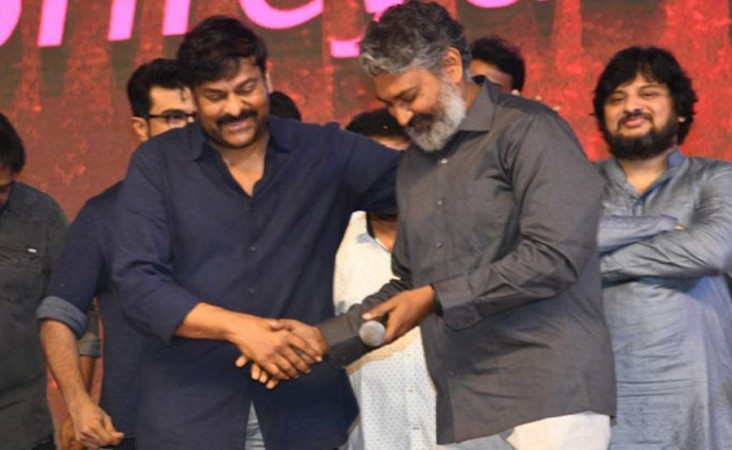 SS Rajamouli at Sye Raa pre-release event