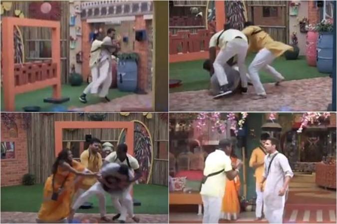 Rahul Sipligunj and Varun Sandesh's fight in Bigg Boss Telugu 3 house