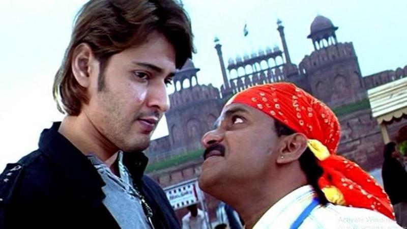 Venu Madhav with Mahesh Babu