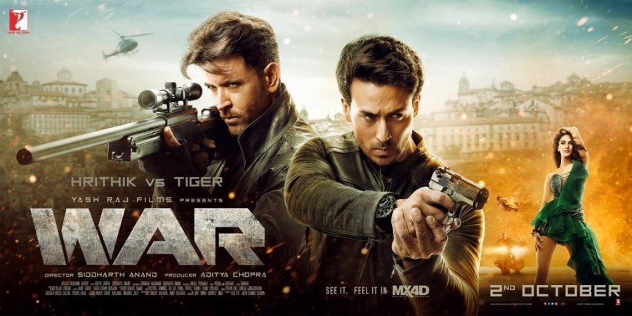 Hrithik Roshan and Tiger Shroff's Hindi movie War