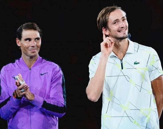 Rafael Nadal and Daniil Medvedev