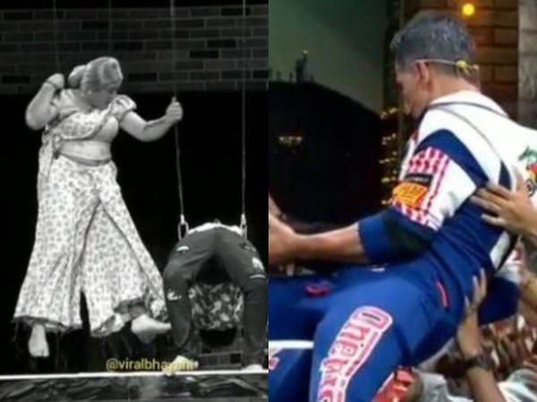 Akshay Kumar helps a performer who falls unconscious