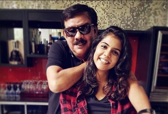 Kalyani with her father Priyadarshan