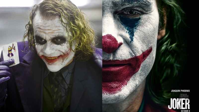 Joker Joaquin Phoenix and Heath Ledger