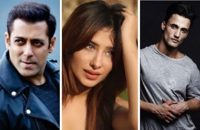Salman Khan, Mahira Sharma, Asim Riaz