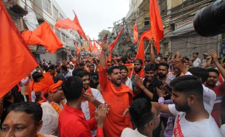 Vishwa Hindu Parishad activists. (Photo: IANS)